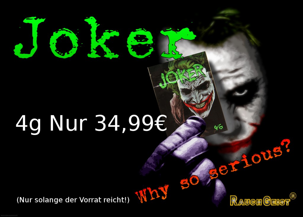Banner mit werbung für Räuchermischung Joker